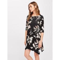 Vestido Assimétrico Florido