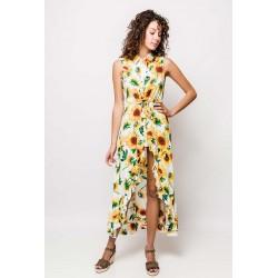 Vestido Comprido c/ Girassois
