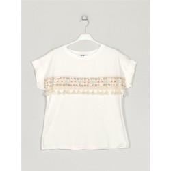 T-Shirt com detalhe...