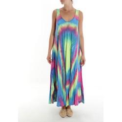 Vestido Fluorescente Tie-Dye